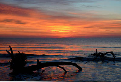 Print featuring the photograph Jekyll Island Sunrise 2016c by Bruce Gourley