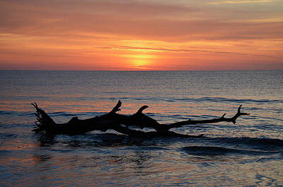 Print featuring the photograph Jekyll Island Sunrise 2016d by Bruce Gourley