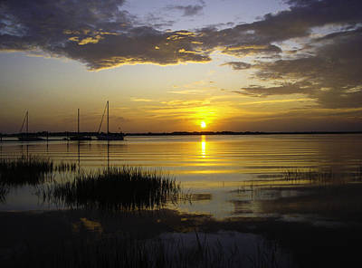 Jekyll Island Sunset Art Print by Elizabeth Eldridge