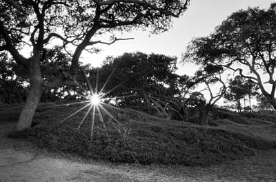 Jekyll Island Photograph - Jekyll Sunset In Black And White by Greg Mimbs
