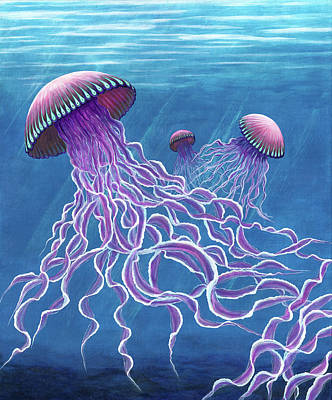 Painting - Jellies 2 by Rebecca Parker