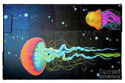 Jellies - Graffiti Art Print by Colleen Kammerer