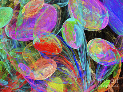 Digital Art - Jelly Beans And Balloons Abstract by Andee Design