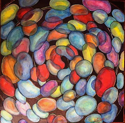 Painting - Jelly Beans Of Life by Rae Chichilnitsky