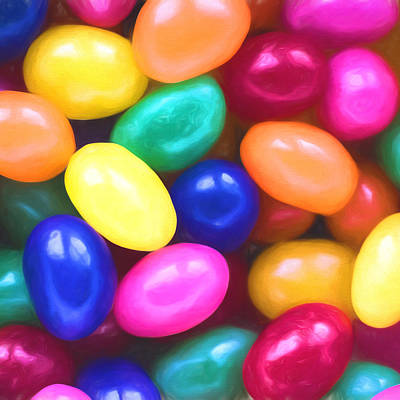 Photograph - Jelly Beans Square by Terry DeLuco