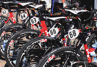 Tour Of The Gila Photograph - Jelly Belly Pro Racer Bikes by Natalie Ortiz