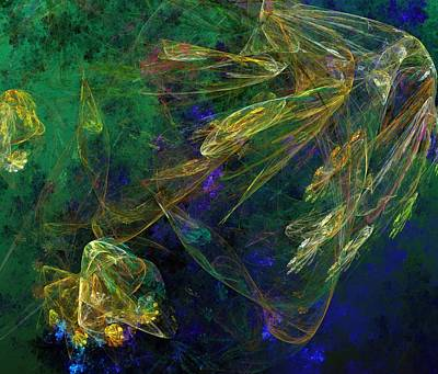 Digital Art - Jelly Fish  Diving The Reef Series 1 by David Lane