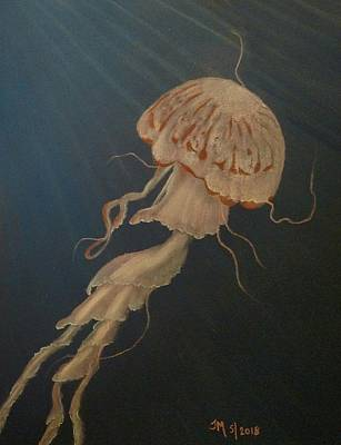 Pastel - Jelly Fish by Joan Mansson