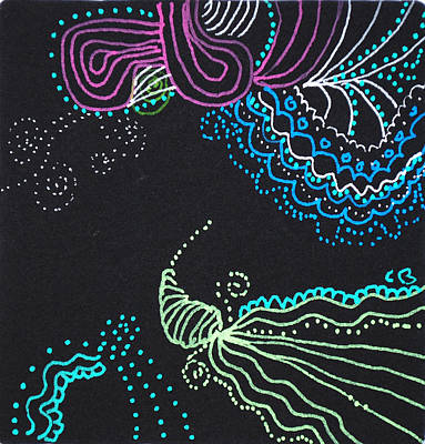 Drawing - Jelly Fish by Carole Brecht