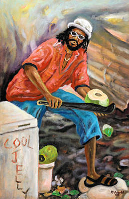 Jamaican Painting - Jelly Man by Ewan  McAnuff