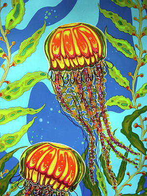 Painting - Jellyfish 01 by Debbie Chamberlin