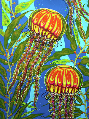 Painting - Jellyfish 02 by Debbie Chamberlin