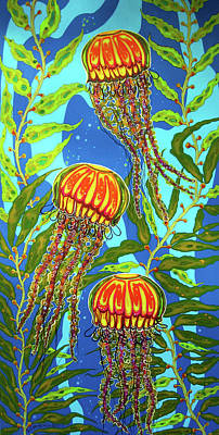 Painting - Jellyfish 03 by Debbie Chamberlin