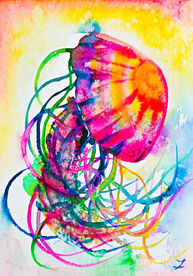 Painting - Jellyfish Dance by Zaira Dzhaubaeva