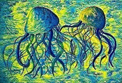 Digital Art - Jellyfish Digital 7 by Megan Walsh