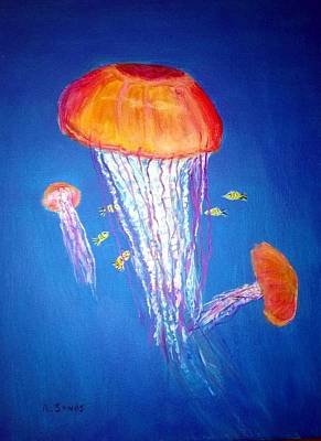 Painting - Jellyfish Flow by Anne Sands