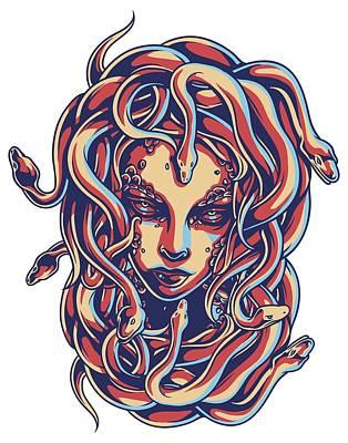 Gorgon Digital Art - Jellyfish Gorgon by Vadim Pavlov