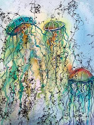 Wall Art - Painting - Jellyfish IIi by Midge Pippel
