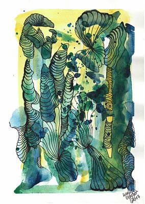 Drawing - Jellyfish by Julia Zoellner