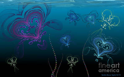 Digital Art - Jellyfish Love by Sandra Bauser Digital Art