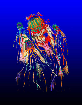 Painting - Jellyfish-mult1 by Martin Hardy
