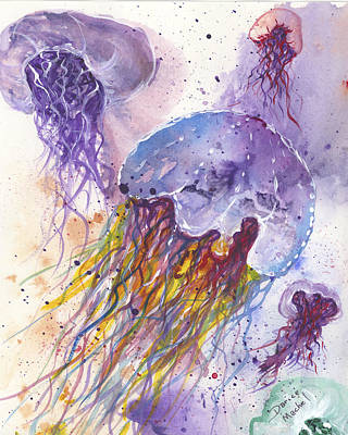 Painting - Jellyfish Party by Darice Machel McGuire