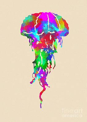Fish Digital Art - Jellyfish  by Prar Kulasekara