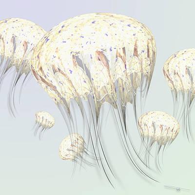 Wall Art - Digital Art - Jellyfish by Warren Lynn