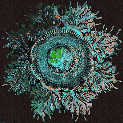 Haeckel Digital Art - Jellyfish With Feathery Tentacles by Diane Addis