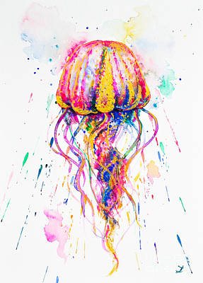 Painting - Jellyfish by Zaira Dzhaubaeva