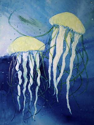 Painting - Jellyfishes by Patricia Beebe
