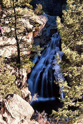 Using The River Photograph - Jemez Falls by Jeff Swan