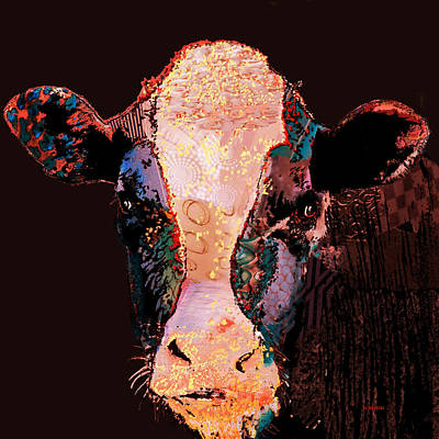 Digital Art - Jemima The Cow by Marlene Watson