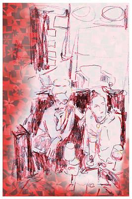 Sarasota Drawing - Jen And Kris by Lori Childers