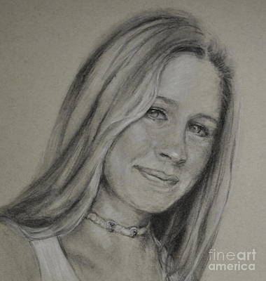 Drawing - Jen by Kathy Flood