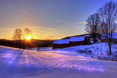 Photograph - Jenne Farm Sunrise - Vermont by Joann Vitali