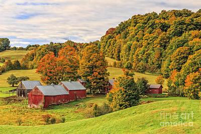 Barn Photograph - Jenne Farm Vermont Landscape Autumn by Edward Fielding