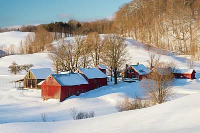 Jenne Farm Winter Art Print