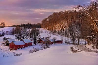 Photograph - Jenne Farm Winter Scenic by Thomas Schoeller