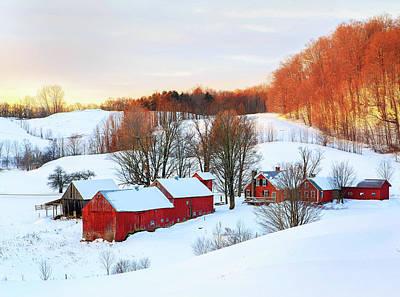 Photograph - Jenne Farm Winter Sunrise by John Vose