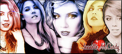 Pucketts Digital Art - Jennette Mccurdy - Phases by Robert Radmore