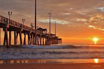 Photograph - Jennettes  Pier by Barbara Ann Bell