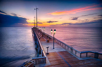 Dan Beauvais Royalty-Free and Rights-Managed Images - Jennettes Pier - Dawn 7080 by Dan Beauvais
