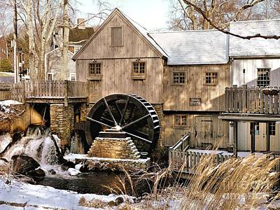 New England Photograph - Jenney Grist Mill 2010 by Janice Drew
