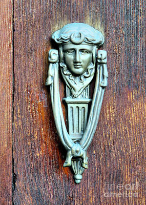 Photograph - Jenney Museum Door Knocker by Janice Drew