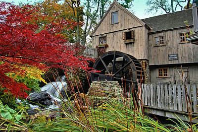Photograph - Jenneys Grist Mill by Ben Prepelka