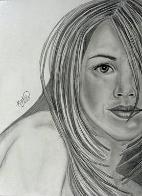 Drawing - Jennifer Aniston  by Kimber  Butler
