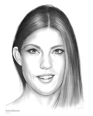 Drawing - Jennifer Carpenter by Greg Joens