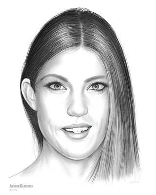 Dexter Drawing - Jennifer Carpenter by Greg Joens