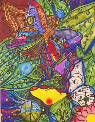 Sharpie Art Drawing - Jennifer Friend Music by Bonnie Murphy